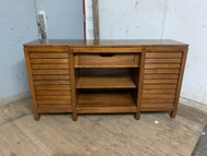Modern walnut media stand/buffet