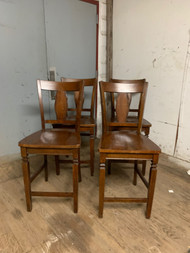 4 solid wood bar chairs