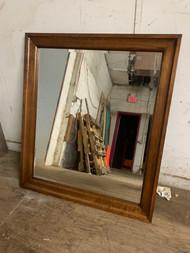 Walnut modern Mirror 36x42