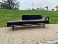 Adrian Pearsall type sofa in black leather