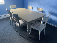Shabby Chic Table with 6 chairs