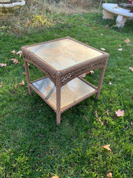 """Wicker 20"""" square side table"""