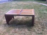 hardwood drop leaf patio table