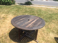 "48"" round mahogany patio table"