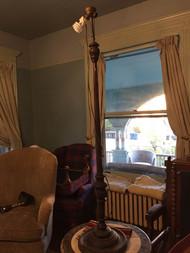 Vintage mahogany floor lamp