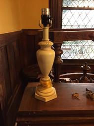 Resin cream colored lamp