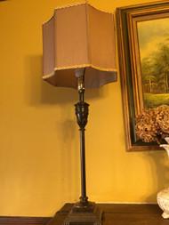 Bronze finish mantle lamp