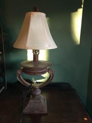 Vintage bronze finish lamp