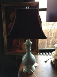 Porcelain blue lamp