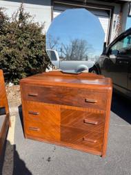 Art deco 3 drawer dresser with mirror