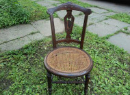 Round Carved Eastlake Chair