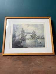 London tower bridge H. Moss lithograph