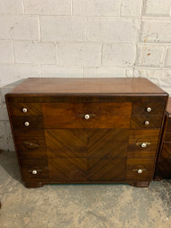 dark walnut art deco dresser