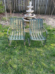 Vintage modern steel patio rockers