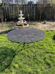 "48"" round cast iron patio table"