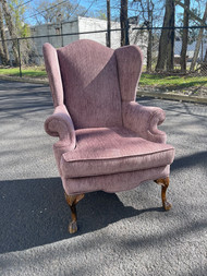 Purple wingback chair