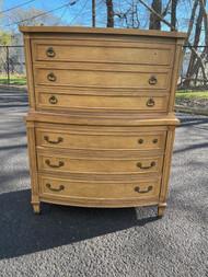 Light walnut tall 6 drawer dresser