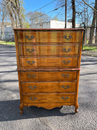 French provincial cherry 6 drawer dresser