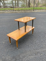 Mid century modern maple end table