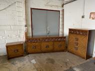 3 Piece mid century modern bedroom set