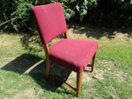 Upholstered Red Side Chair