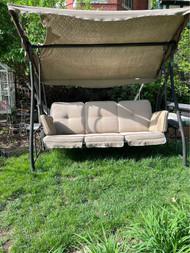 Bronze finished patio swing  hammock