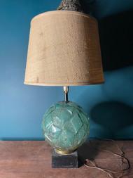 Mid century modern round glass base lamp