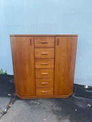 Mid century modern teak armoire