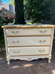 French Provincial 3 drawer dresser