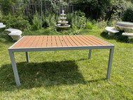 6ft Composite and metal modern patio table
