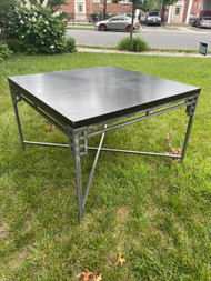 Cort modern industrial dining table