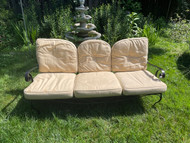 Bronze iron patio sofa with cushions
