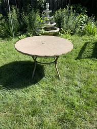 Vintage flower shaped fiberglass and metal patio table
