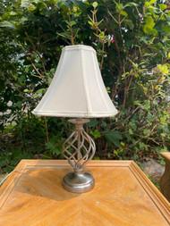Metal Nickle finish twist lamp