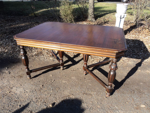 Antique Depression Era Walnut Dining Table Forgotten