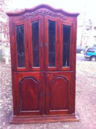 7ft Grand Mahogany China Cabinet
