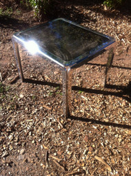 Vintage Chrome / Glass End Table