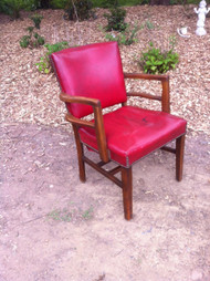 Red Leather Library Chair