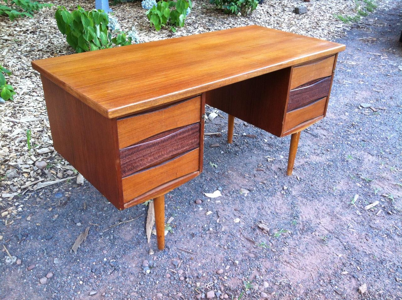 Image of: Danish Modern Teak Desk Forgotten Furniture