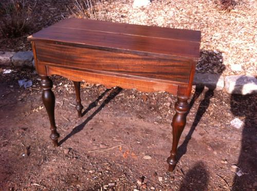 Image 1 - Antique Mahogany Flip Top Secretary Desk - Forgotten Furniture