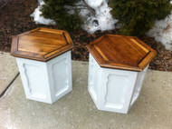 Pair of Shabby Chic Pine End Tables