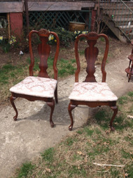 Pair of Cherry Queen Anne Dining Room Side Chairs