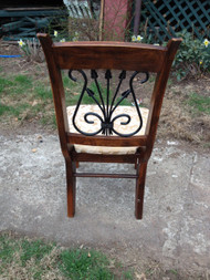 Walnut and Iron Side Chair