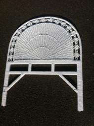 White Wicker Twin Headboard