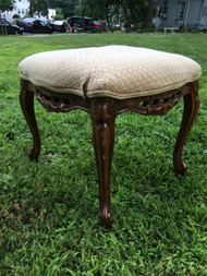 Carved Walnut Footstool
