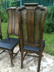 Set of 2 Caned Back French Provincial Dining Chairs