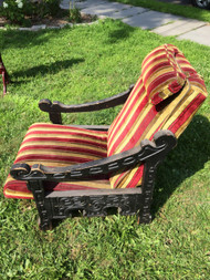 Carved Mediterranean Lounge Chair