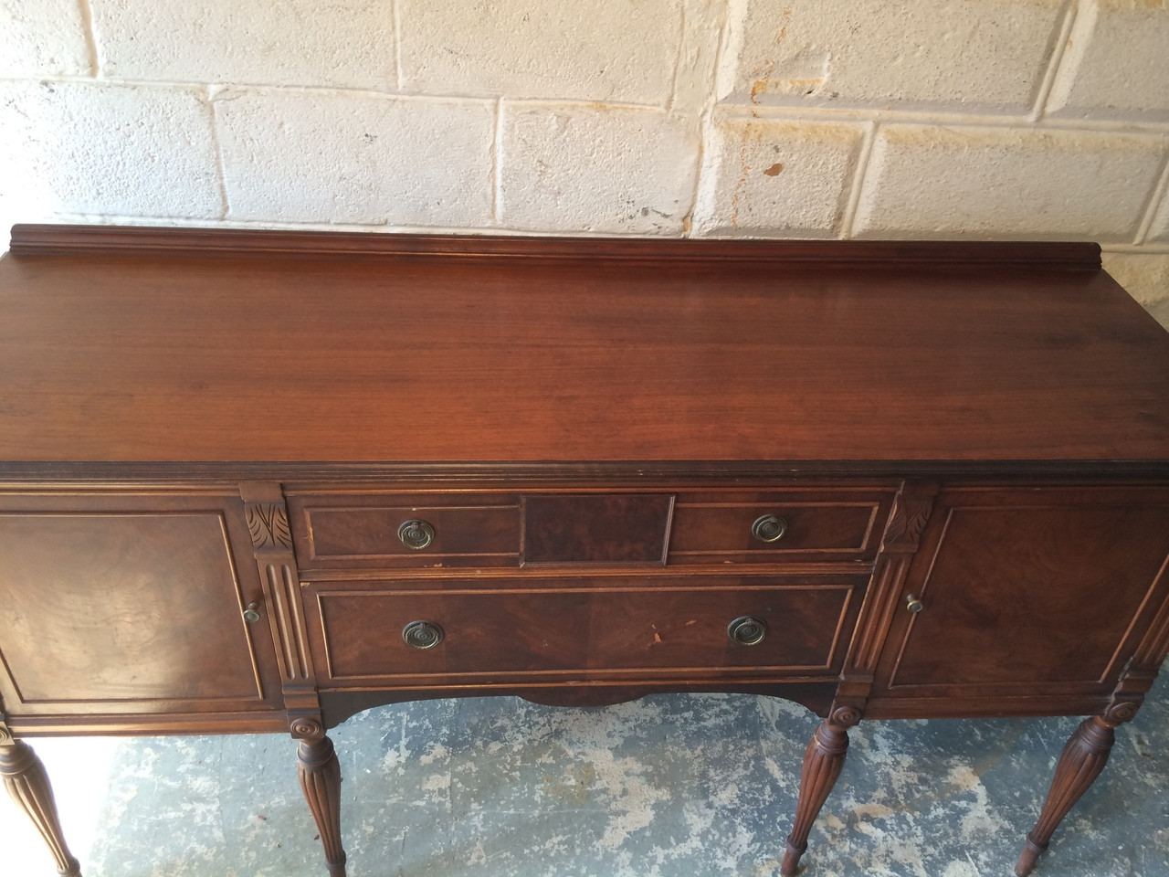 Picture of: Antique Mahogany Dining Room Sideboard Buffet Forgotten Furniture