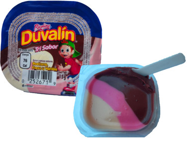 You will love the sweet hazelnut, strawberry and vanilla flavors combined in a delightful blend that will make your mouth water! Duvalin is a delicious soft and creamy milk candy that comes in a small container with a small plastic spoon. This Duvalin candy is a delicious hazelnut, strawberry and vanilla flavored candy cream, which is similar to the pudding. The combination of hazelnut,strawberry mixed with Vanilla is a tasty treat for a wonderful snaky experience.