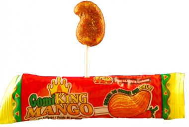 Hot jelly lollipops mango flavored.